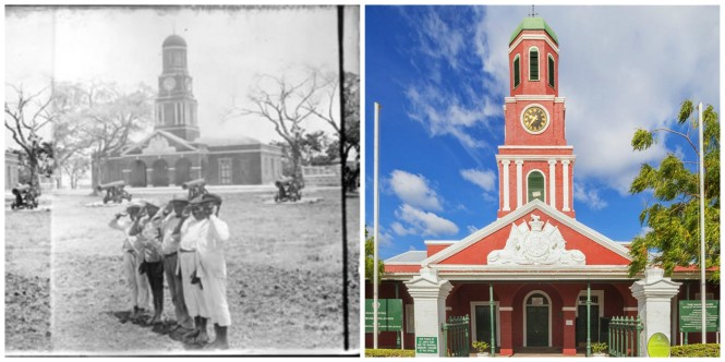 old and new barbados garrison
