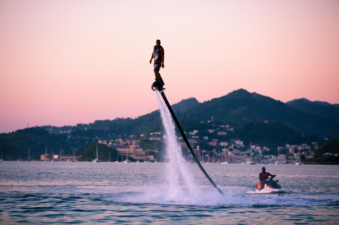 Caribbean Adventure- Flyboarding on Grand Anse Beach